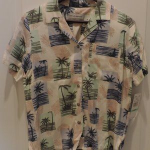 NWT Size 8P Alfred Dunner Palm Trees Shirt